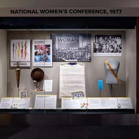 "Exhibition section, ""The National Women's Conference, 1977"""