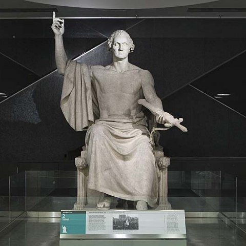 George Washington Sculpture by Horatio Greenough, Second Floor West
