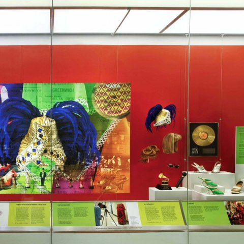 Overall view of Celia Cruz display