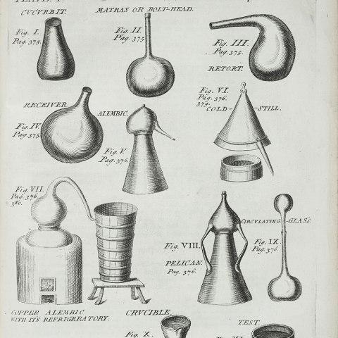 Illustration of scientific glassware