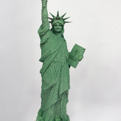 LEGO Statue of Liberty in the 2 West Preview display