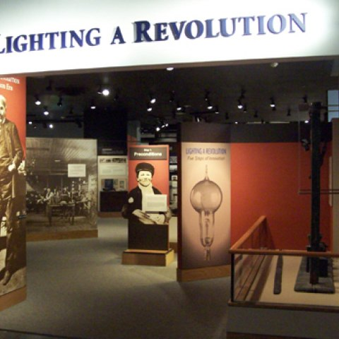 Entrance to Lighting a Revolution
