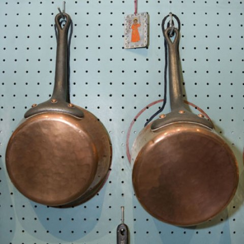 Pans in Julia Child's Kitchen