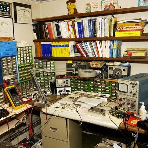 Wide shot of Ralph Baer's Inventor's Workshop