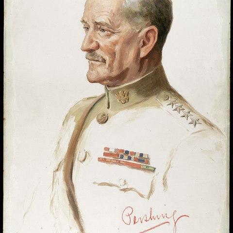 "John J. ""Black Jack"" Pershing portrait by Joseph Cummings Chase"