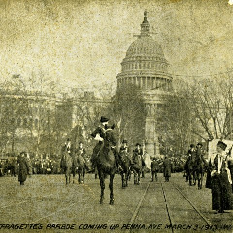 Postcard from the 1913 Woman Suffrage Parade