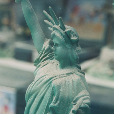 "Dusty ""Lady Liberty"" in the Hallmark store window, NYC"