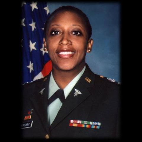 Studio portrait of LTC Karen Wagener in uniform