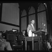 Reverend Martin Luther King, Jr., at Howard University in 1956