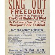 Poster from a Washington, D.C. Concert Celebrating the Passage of the Civil Rights Act of 1964 (NMAH, gift of Sheila Machlis Alexander)