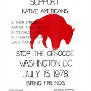 Poster advertising the cross-country walk for Native American rights, February 11-July 15, 1978 (NMAH, gift of John Adams)