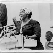 Gospel Singer Mahalia Jackson at the Rally (Library of Congress)