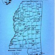SNCC Mississippi Project Map, 1964