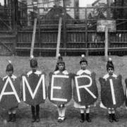 """Kids spelling out """"America"""""""