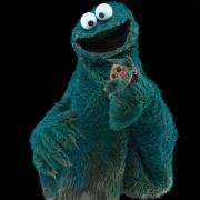 "Cookie Monster from ""Sesame Street."" Muppets copyright Disney. Fraggles copyright The Jim Henson Company. Sesame Street characters copyright Sesame Workshop."