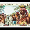 Idealized African Women, 1,000 Franc Note, French Equatorial Africa (Modern Central and Western Africa), 1963