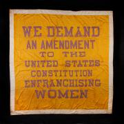 Woman Suffrage Banner