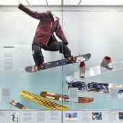 snowboarding display