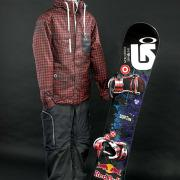 Shaun White snowboard, jacket, pants