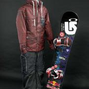 Shaun White snowboard, jacket, pants
