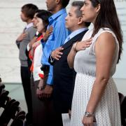 Naturalization ceremony at the Museum