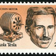 Tesla postage stamp, 1983