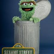 "Oscar the Grouch from ""Sesame Street."" Muppets copyright Disney. Fraggles copyright The Jim Henson Company. Sesame Street characters copyright Sesame Workshop."