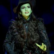 Mandy Gonzalez as Elphaba, photo by Joan Marcus
