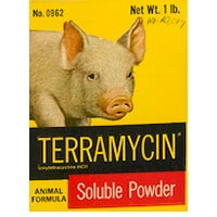 Pig and Terramycin soluble powder
