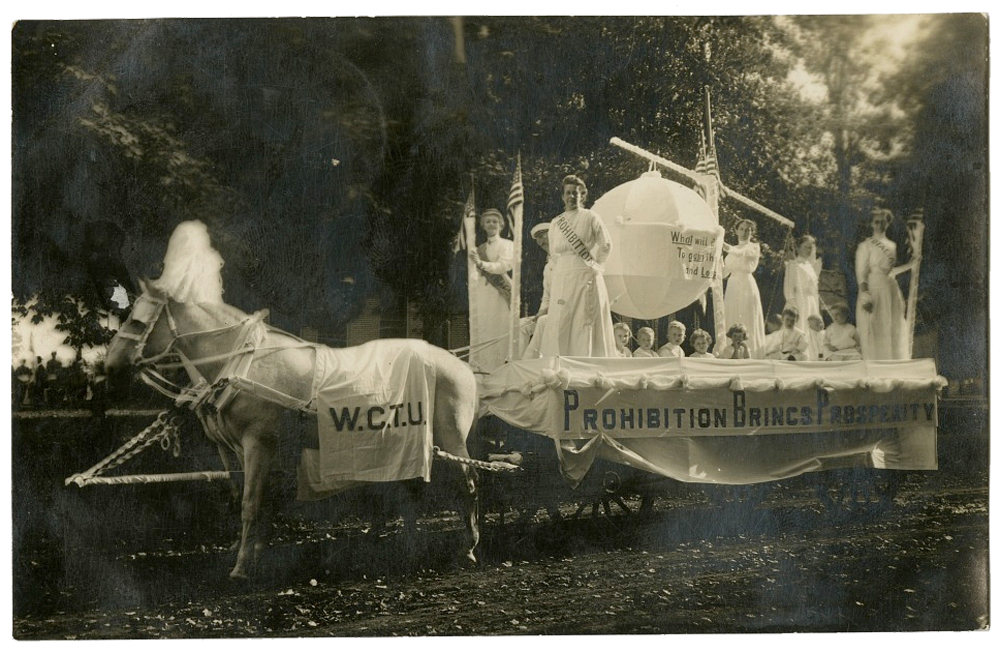 Women on a float for Prohibition.