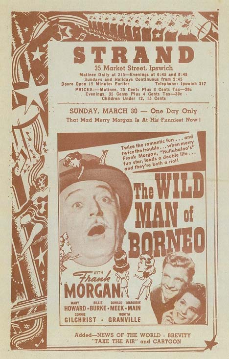 Movie poster for 'The Wild Man of Borneo'