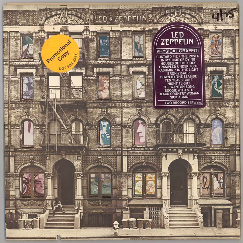 Album cover, Led Zeppelin's Physical Graffiti